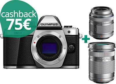 Mirrorless Camera - Olympus E-M10 Mark II & Φακοί M14-42 IIR & 40-150mm - Ασημί