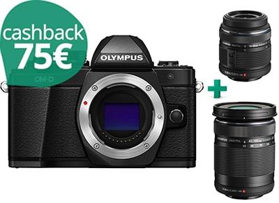 Mirrorless Camera - Olympus E-M10 Mark II & Φακοί M14-42 IIR & 40-150mm - Μαύρο