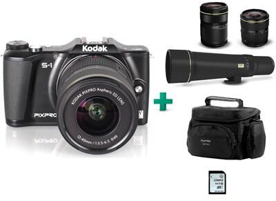 Mirrorless Camera Kodak PixPro S-1 & 3 Φακοί (16-45mm, 42.5-160mm, 400mm) & Θήκη &  Κάρτα μνήμης