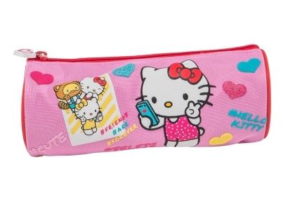 Κασετίνα Graffiti Hello Kitty Βαρελάκι Ροζ (168321)