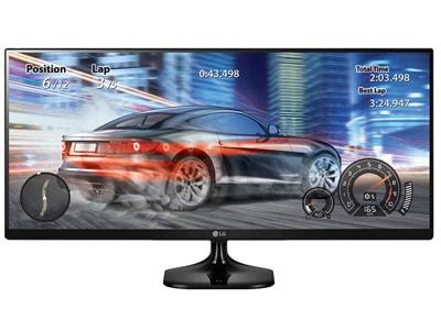 "Monitor 34"" LG 34UM58-P UltraWide IPS LED Full HD Μαύρο περιφερειακά   οθόνες   οθόνες"