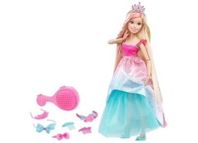 Κούκλα Barbie Πριγκίπισσα Μακριά Μαλλιά 45cm (DKR09)