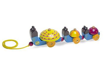 Ξύλινο Συρόμενο Όχημα Oops Rolling Friends Σαλιγκάρι (1004-00913)