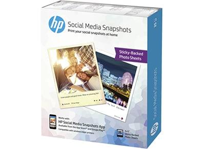 Φωτογραφικό χαρτί HP Photo Gloss Stickable 10x13cm 25 Φύλλα περιφερειακά   μελάνια   αναλώσιμα   μελάνια