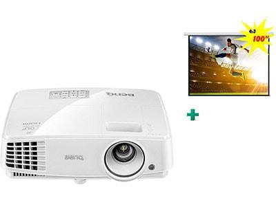 Projector BenQ MW529E DLP HD 3D & Δώρο Οθόνη Προβολής Brateck PEAC100