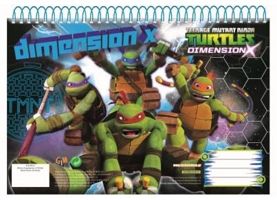 Μπλοκ Zωγραφικής GIM Ninja Turtles A4 30 Φύλλων (334-06413)