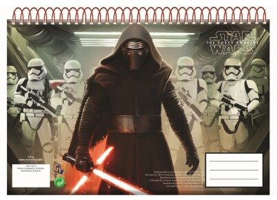 Μπλοκ Zωγραφικής GIM Star Wars Episode 7 A4 30 Φύλλων (338-15413)