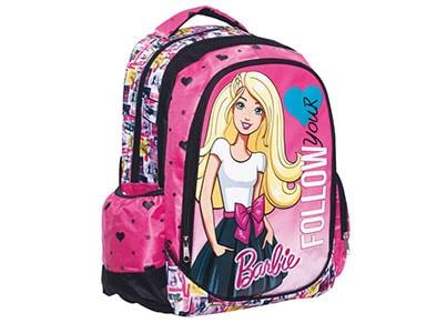 Τσάντα Δημοτικού Οβάλ GIM Barbie Girl (Δώρο DVD) (349-53031)