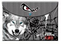 Φάκελος No Fear Snowwolf Α4 PP με Κουμπί