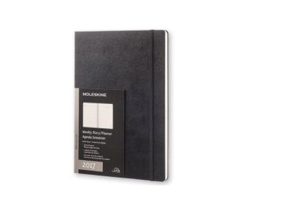 Moleskine Ημερολόγιο 12μηνο 2017 Εβδομαδιαίο Κάθετο Professional Hard Cover Α4 Μαύρο