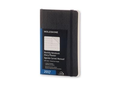 Moleskine Ημερολόγιο 12μηνο 2017 Μηνιαίο Soft Cover Pocket Μαύρο