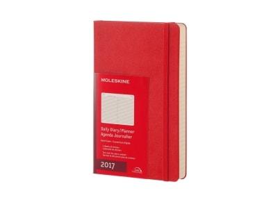 Moleskine Ημερολόγιο 12μηνο 2017 Ημερήσιο Hard Cover Large Scarlet Κόκκινο