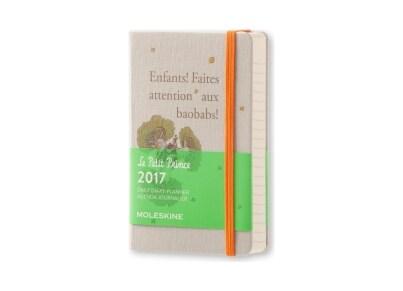 Moleskine Ημερολόγιο 12μηνο 2017 Ημερήσιο Hard Cover Pocket Le Petite Prince Limited Edition Γκρι