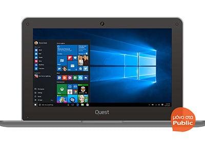 """Laptop Quest Slimbook - 10.1"""" (Z3735F/2GB/32GB / HD) υπολογιστές   laptops"""