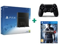 Sony PlayStation 4 - 500GB C Chassis & Uncharted 4: Το Τέλος Ενός Κλέφτη & 2ο χειριστήριο (μαύρο)