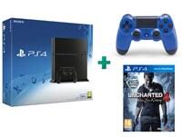 Sony PlayStation 4 - 500GB C Chassis & Uncharted 4: Το Τέλος Ενός Κλέφτη & 2ο χειριστήριο (μπλε)