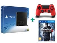 Sony PlayStation 4 - 500GB C Chassis & Uncharted 4: Το Τέλος Ενός Κλέφτη & 2ο χειριστήριο (κόκκινο)