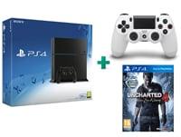 Sony PlayStation 4 - 500GB C Chassis & Uncharted 4: Το Τέλος Ενός Κλέφτη & 2ο χειριστήριο (λευκό)