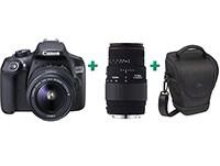 DSLR Canon EOS 1300D Kit 18-55mm III & Φακός Sigma 70-300mm & Θήκη Μεταφοράς