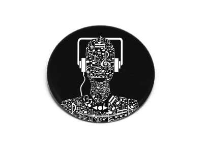 Κονκάρδα Μαγνητική Make Notes Μαύρη (PIN01-02)