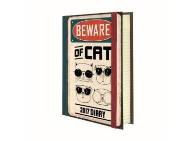 Legami Ημερολόγιο 12μηνο 2017 Ημερήσιο Mini Προσοχή Γάτα