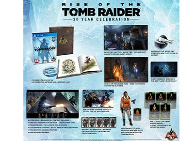 Rise of the Tomb Raider 20th Anniversary Celebration Digibook Edition - PS4 Game