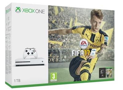 Microsoft Xbox One S White - 1TB & FIFA 17