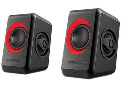 Ηχεία 2.0 SonicGear QUATRO2BCG Μαύρο, Κόκκινο