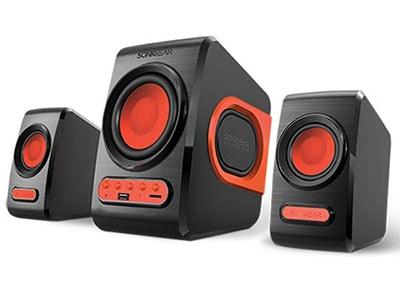 SonicGear 2.1 Subwoofer Speaker set - Ηχεία - Κόκκινο