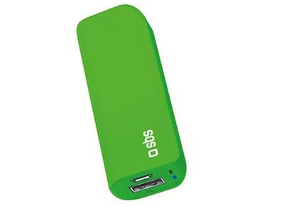 Powerbank USB - SBS Compacto 3.000 mAh 1A - Πράσινο