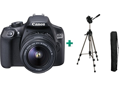 Canon EOS 1300D Kit 18-55mm III & Τρίποδο HAMA Star 62