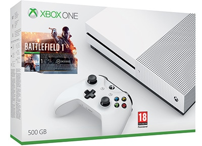 Microsoft Xbox One S White - 500GB & Battlefield 1