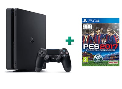 Sony PlayStation 4 - 500GB Slim D Chassis & Pro Evolution Soccer 2017