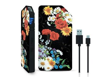 Powerbank USB - iPaint Black Flower 3000 mAh 1A