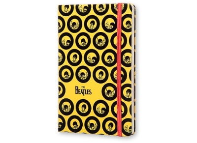 Σημειωματάριο Moleskine The Beatles Limited Edition - Ριγέ - Large - Κίτρινο