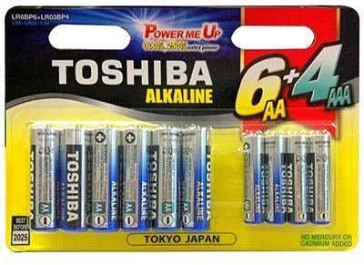 Μπαταρία Toshiba 6+4 GCNN66 AA & AAA περιφερειακά   μπαταρίες   αλκαλικές