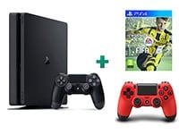 Sony PlayStation 4 - 1TB Slim D Chassis & FIFA 17 & 2ο Χειριστήριο (κόκκινο)