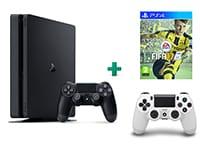 Sony PlayStation 4 - 1TB Slim D Chassis & FIFA 17 & 2ο Χειριστήριο (λευκό)