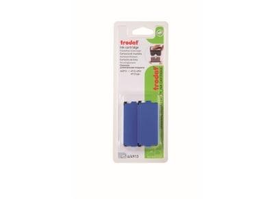 Ταμπόν Σφραγίδας - Trodat - 4953 - Μπλε - Blister -2 Τεμάχια - 5 γραμμών