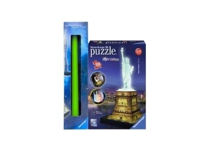 Λαμπάδα 3D Puzzle  Ravensburger Άγαλμα της Ελευθερίας Night Edition - 108 κομμάτια