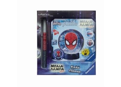Λαμπάδα 3D Puzzle  Ravensburger Μπαλαλάμπα Τρέλα Spiderman (12256) - 108 κομμάτια
