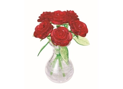 Puzzle 3D Red Six Rose (90152)