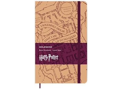 Σημειωματάριο Moleskine Harry Potter Marauders Map Ριγέ Large