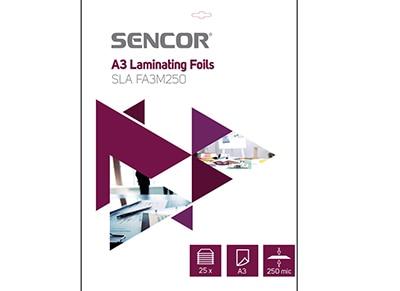 Φύλλα πλαστικοποίησης A3 25 φύλλα Sencor
