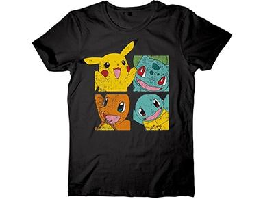 T-Shirt Sunset International Pokemon Pikachu & Friends Μαύρο - L