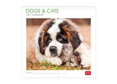Legami Ημερολόγιο Doggs & Cats 2017 - Μηνιαίο - Τοίχου - Large