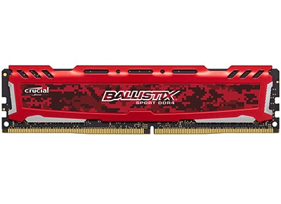 Μνήμη RAM DDR4 4 GB 2400 MHz - Crucial Ballistix Sport LT Red (BLS4G4D240FSE)