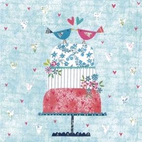 Ευχετήρια Κάρτα Γάμου Glitter - Wedding Cake