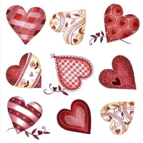 Ευχετήρια Κάρτα Αγάπης Glitter - Hearts
