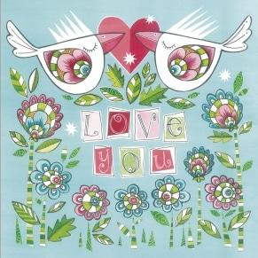 Ευχετήρια Κάρτα Αγάπης Glitter - Love You